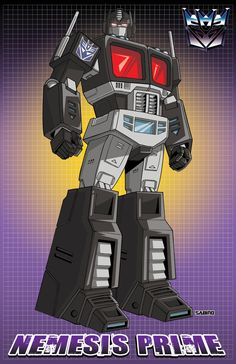 Transformers - Nemesis Prime (Decepticon clone) by AJ Sabino Transformers Film, Transformers Decepticons, Transformers Generation 1, Transformers Characters, Transformers Masterpiece, Gi Joe, Nemesis Prime, Morning Cartoon, Arte Horror