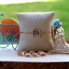 Simple Rose, Dainty Bracelets, Stone Bracelet, Rose Gold Plates, Delicate, Minimalist, Bronze, Throw Pillows, Jewels