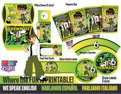 Super Party Ben 10 Ten Fiesta Imprimible por Printnfun en Etsy, €18.00 #ben10 #ben10party #benten #ben10printables