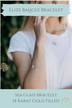 Dainty gold sea glass bracelet made with authentic sea glass from Panama. Dainty Gold Jewelry, Sea Glass Jewelry, Goddesses, Bracelet Making, Jewelry Shop, Panama, Bangle Bracelets, Fashion Accessories, Inspired