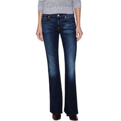"7 for All Mankind ""A"" Pocket Flare Leg Jean ($119) ❤ liked on Polyvore"