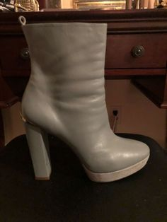 138abfd46 VERSACE COLLECTION Pale Green Platform Ankle Boot EU 41 / US 11 #fashion  #clothing