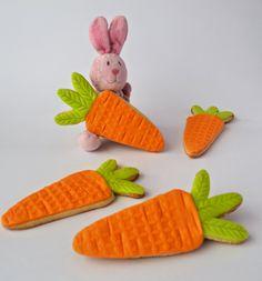 Easter cookies fondant, bunny, carrot