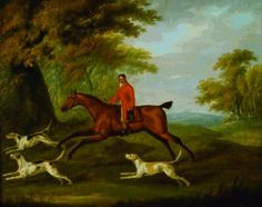 A Huntsman and Hounds on the Edge of a Wood by John Nost Sartorius Working in Newmarket, John Nost Sartorius produced many racing and other sporting pictures for a range of prestigious patrons. Many were reproduced in engraving, and a number of works produced specifically for sporting magazines and journals.