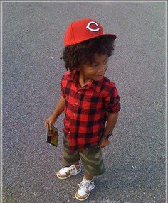 swag kid..he needs to cut his hair and his swag points would go up..