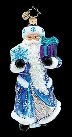 Cool Blue purple Claus by Christopher Radko, Item 1015480 Radko Christmas Ornaments, Christmas Card Crafts, Santa Christmas, Glass Ornaments, Christmas Tree Decorations, Christmas Things, Christmas Baubles, Christmas Trees, Peacock Christmas