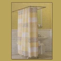 Basement bathroom shower curtain