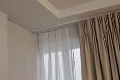 Voile curtains behind pinch pleat curtains Pinch Pleat Curtains, Pleated Curtains, Custom Made Curtains, Made To Measure Curtains, Curtain Track System, Dining Room Curtains, Curtains Living, Home Repair Services, Home Decor Boxes