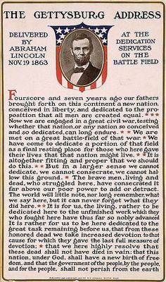 The Gettysburg Address Delivered by Abraham Lincoln Nov. 19 1863 by allhistory History 'The Gettysburg Address Delivered by Abraham Lincoln Nov. 19 Poster by allhistory Bill Of Rights, American Presidents, American Civil War, Captain American, Early American, Native American, Greatest Presidents, American Pride, History Facts