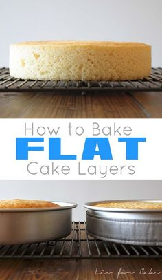 Learn how to bake up perfectly flat cake layers every time with this simple tuto. - Cakes, Cupcakes and Frosting - Cake Recipes Bake Flat Cakes, No Bake Cake, How To Bake Cakes, Just Desserts, Delicious Desserts, Dessert Recipes, French Desserts, Cake Decorating Techniques, Cake Decorating Tips
