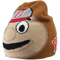 Ohio State Buckeyes Mascot Jacquard Beanie - Tan- Love this! Have to get it for someone