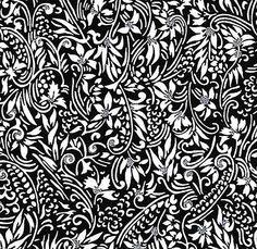 JaponskaZahrada / Handmade art papier - Vínna réva čierna