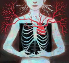 Rib Cage Heart exposed
