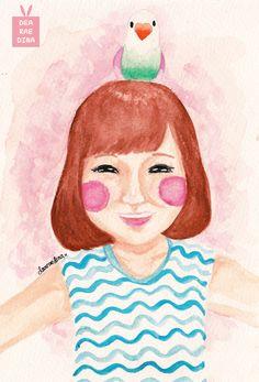 Happy Girl by Dea Raedina #deadeyart