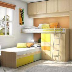 Literas infantiles y juveniles para el dormitorio de tus niños en FacilMobel: abatibles y horizontales, plegables, tipo tren, de 3 camas, con nido y mucho +