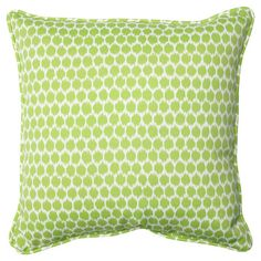 Add a pop of pattern to your sofa or favorite arm chair with this charming pillow, showcasing a polka-dot motif and eco-friendly fill.