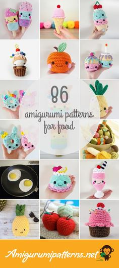 has the largest collection of free and premium Food amiguru. : Amigurumipatterns… has the largest collection of free and premium Food amigurumi patterns. Click now and discover wonderful crochet patterns! Crochet Food, Cute Crochet, Crochet For Kids, Easy Crochet, Crochet Cupcake, Crochet Birds, Irish Crochet, Crochet Animals, Crochet Amigurumi Free Patterns