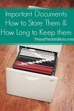 How to Store Important Documents (And How Long to Keep Them) I've always been good at keeping manuals, receipts and warranties. I was just always afraid to throw those items away. While I've not really ever needed any of them, there have been ti . Organizing Paperwork, Office Organization, Organization Ideas, Organize Receipts, Organizing Life, Planners, Important Documents, Ideas Para Organizar, D House