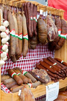 Hungarian sausages, butcher right under Aventura Boutique Hostel