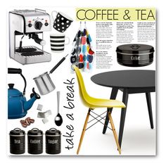 """Take a break"" by stylemoi-offical ❤ liked on Polyvore featuring interior, interiors, interior design, home, home decor, interior decorating, Dualit, Le Creuset, BergHOFF and Typhoon"