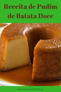 Pudding Desserts, Dessert Recipes, Sweets Cake, Portuguese Recipes, Vegan Sweets, Cakes And More, Delish, Deserts, Food And Drink