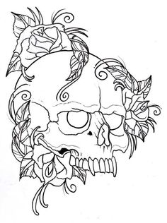 Skull Coloring Pages 24