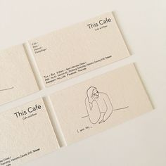 This Cafe Business Card - Business Cards. - This Cafe Business Card Identity Design, Logo And Identity, Design Brochure, Design Logo, Web Design, Stationery Design, Brand Identity, Design Cars, Visual Identity