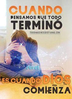 #PiensaPositivo Mañana será otro día, otro comienzo, nuevas oportunidades... #DiosTieneElControl