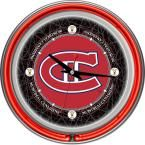 14 in. Vintage Montreal Canadiens NHL Neon Wall Clock, Multi