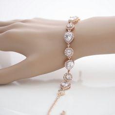 Roségold Armband Braut Hochzeit Schmuck Hochzeit von poetryjewelry