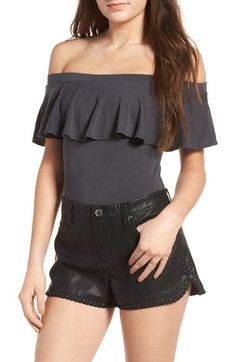 Socialite Ruffle Off the Shoulder Bodysuit available at #Nordstrom