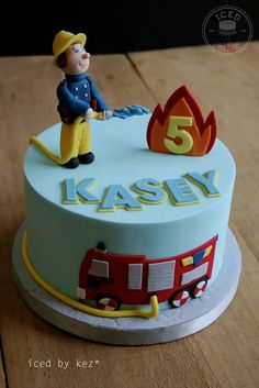 Firefighter Sam Cake Fireman Sam cake 307 Source by Fireman Sam Birthday Cake, Fireman Sam Cake, 3rd Birthday Cakes, Fire Engine Cake, Fire Cake, Fire Fighter Cake, Thomas Cakes, Friends Cake, Occasion Cakes