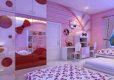 Luxury And Modern Hello Kitty Room Decorating Ideas
