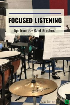 "In our survey, we asked Band Directors Talk Shop readers ""What is the best phrase, analogy or activity you've ever heard/used regarding the teaching of focused listing?"" With many great responses, here is the list of very helpful quotes Drum Lessons, Music Lessons, Middle School Music, Music Classroom, Music Teachers, Classroom Ideas, Band Director, Music Lesson Plans, Better Music"