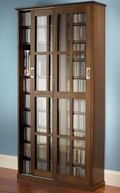DVD Storage Cabinet With Doors. Really elegant look, high quality of material.