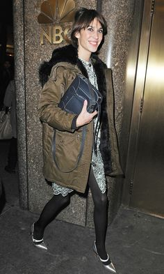 Alexa Chung Had Us All Running Out To Buy A Parka Jacket After We Spotted Her Wearing One In New York, 2012