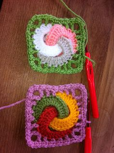 Interlocking Crochet Circles - pattern from a book by Edie Eckman