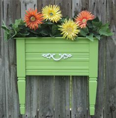 from etsy (sorry, no original link available!) end table turned planter!