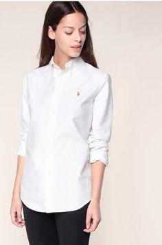 Chemise blanche broderie logo Ralph Lauren Blanc   Ecru pour femme prix  Chemise Monshowroom 99, 4d13160b48e