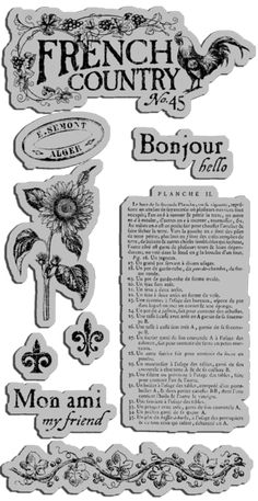 French Country Cling Stamps 1, in stores February! #graphic45 #sneakpeeks #CHAshow