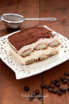 Oryginalne włoskie Tiramisu - Fotokulinarnie Italian Tiramisu, Italian Desserts, Cake Recipes, Dessert Recipes, Canned Blueberries, Vegan Scones, Caesar Pasta Salads, Gluten Free Flour Mix, Scones Ingredients