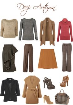 """Deep autumn neutrals"" by sabira-amira on Polyvore"
