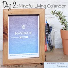 Day 2: Mindful Living Calendar. The front of each month card is pressed using a fountain split technique, which results in a beautifully unique gradient of color. Each double-sided month card provides a reflection theme, a quote to inspire action, and beautiful colors. Make 2014 the most mindful year yet. $40 #buddhism #mindful