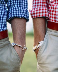 Gingham and nautical bracelets - KJP.