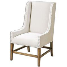 Uttermost Dalma Linen Wing Chair 23189