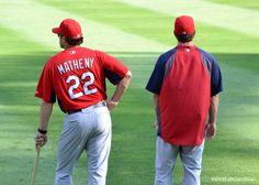 Mike Matheny and David Freese