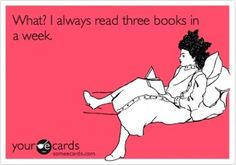 And I will still never read everything that's on my Kindle!!