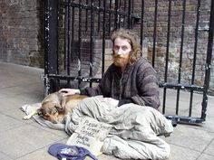 Homeless Man With His Best Friend