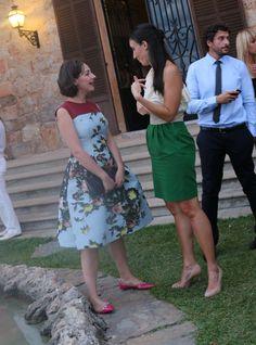 Lavrishina blog Carolina Herrera Floral Jacquard Dress  w Valentino flats