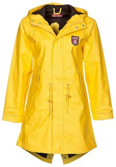 yellow raincoat Friese by Derbe